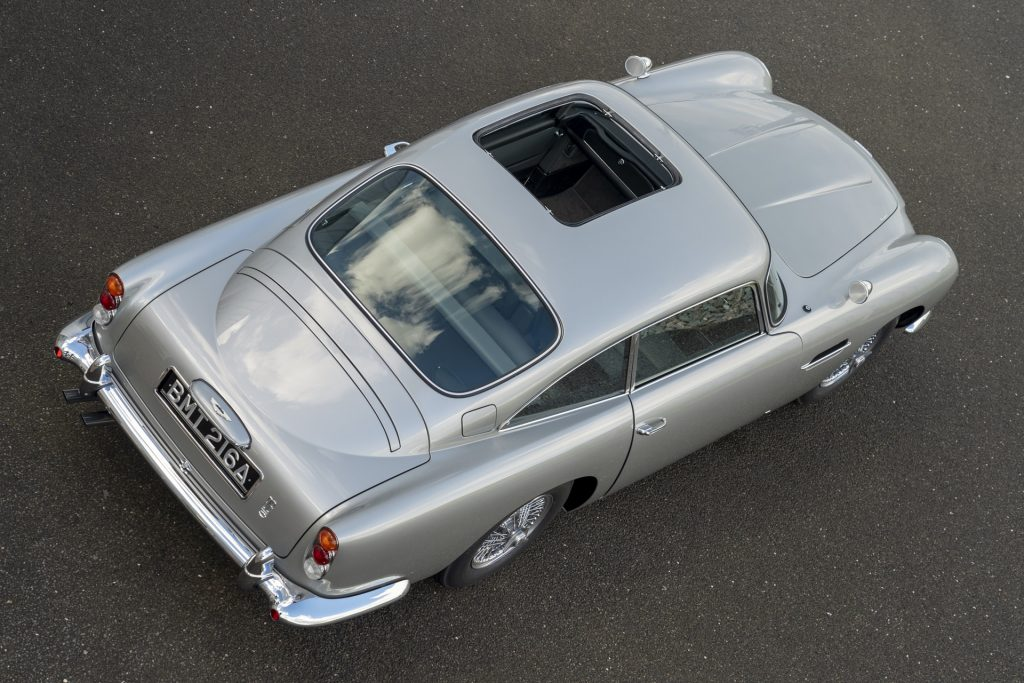 Aston Martin DB5 with equipped with the sunroof.
