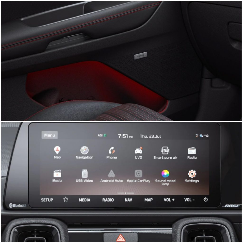 Kia Sonet - BOSE Speakers and Infotainment System