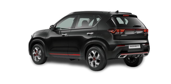 Kia Sonet - Rear and Side Left