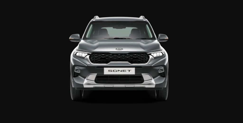 Kia Sonet - Front Grille and LED Headlamps